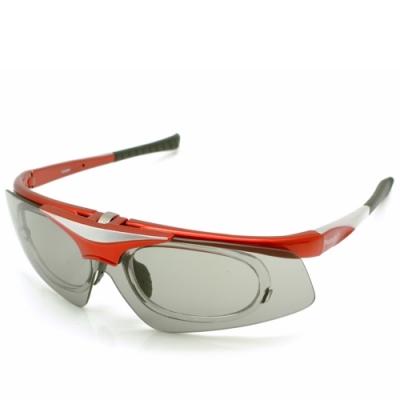 台灣製造PHOTOPLYY可掀式大聯盟太陽眼鏡用備片(絢麗紅+SO3變色鏡片)