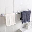 E-dot  無痕浴室毛巾收納桿架組(短款+長款)兩件組