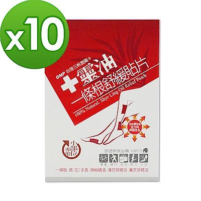 【十靈本舖】一條根舒緩貼片-小部位專用(熱感貼布) 10盒組