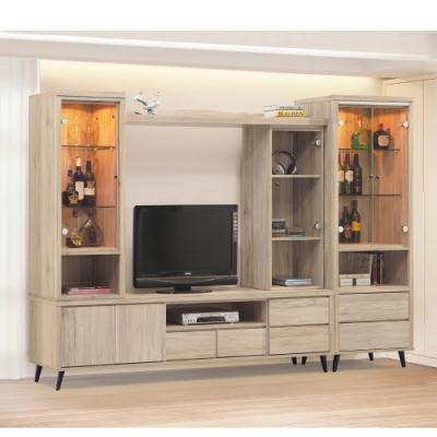 MUNA 寶雅橡木9尺高低櫃(全組) 278X39X188cm