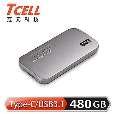 TCELL冠元- TPS100 480GB Type-C 行動固態硬碟(鈦金灰)
