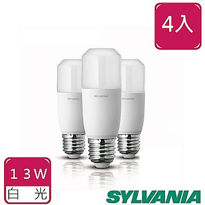 喜萬年SYLVANIA 13W LED 小小冰極亮燈泡-白光 4入組