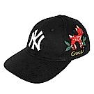 Gucci x NY Yankees  立體貼飾可愛紅色小鹿棒球帽(黑色)