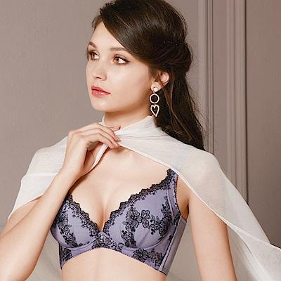 奢華刺繡專利遠紅外線珍珠按摩涼感ABC水美人內衣 典雅紫 Clany可蘭霓