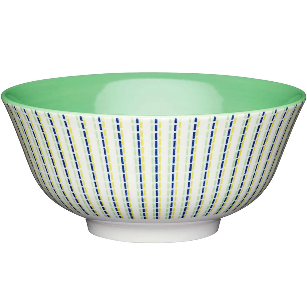 《KitchenCraft》陶製餐碗(三色線)