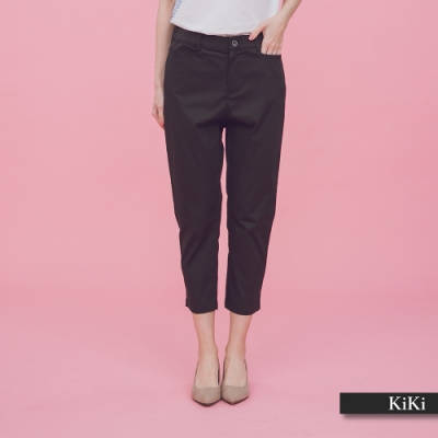 【KiKi】經典修身七分-長褲(二色)