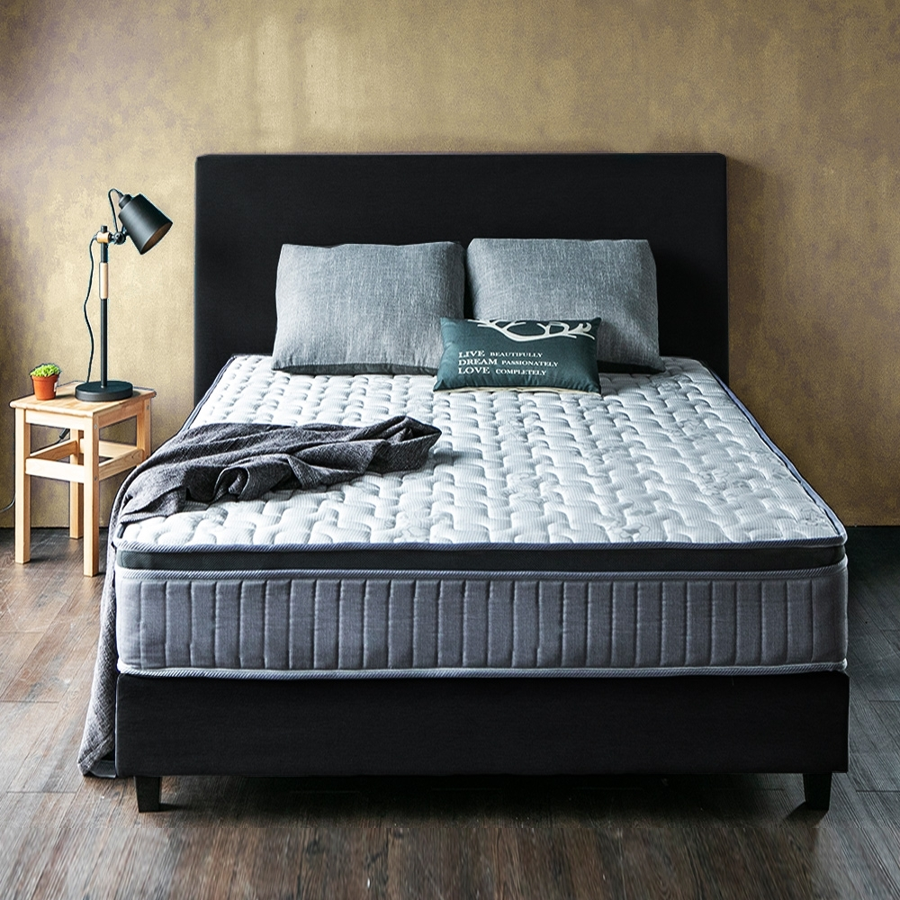 obis HERMAN三線竹炭乳膠硬式雙人加大6尺獨立筒床墊