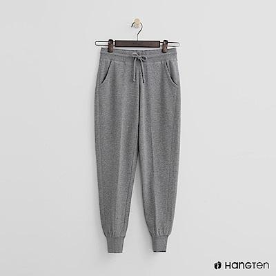 Hang Ten - 女裝 - 後口袋印字束口褲-灰