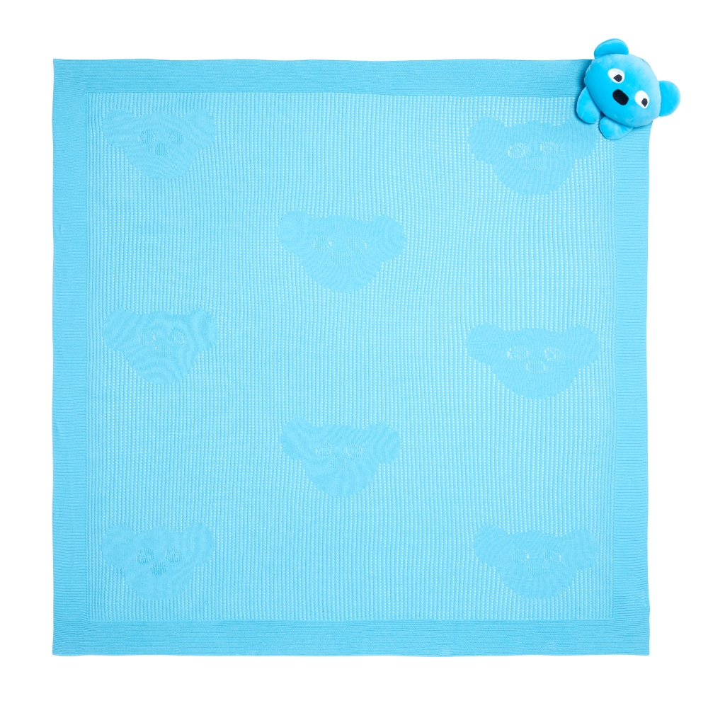 WHY AND 1/2 mini 安撫玩偶洞洞毯禮盒 (藍色)