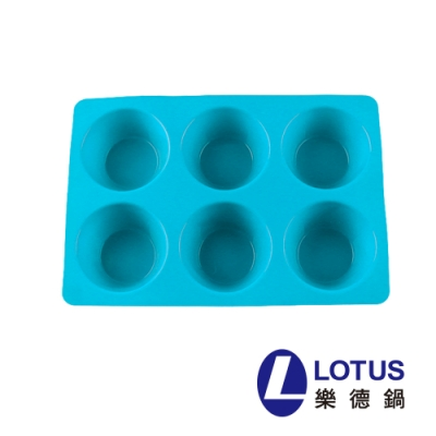 LOTUS 馬芬6入矽膠烤膜(隨機顏色)