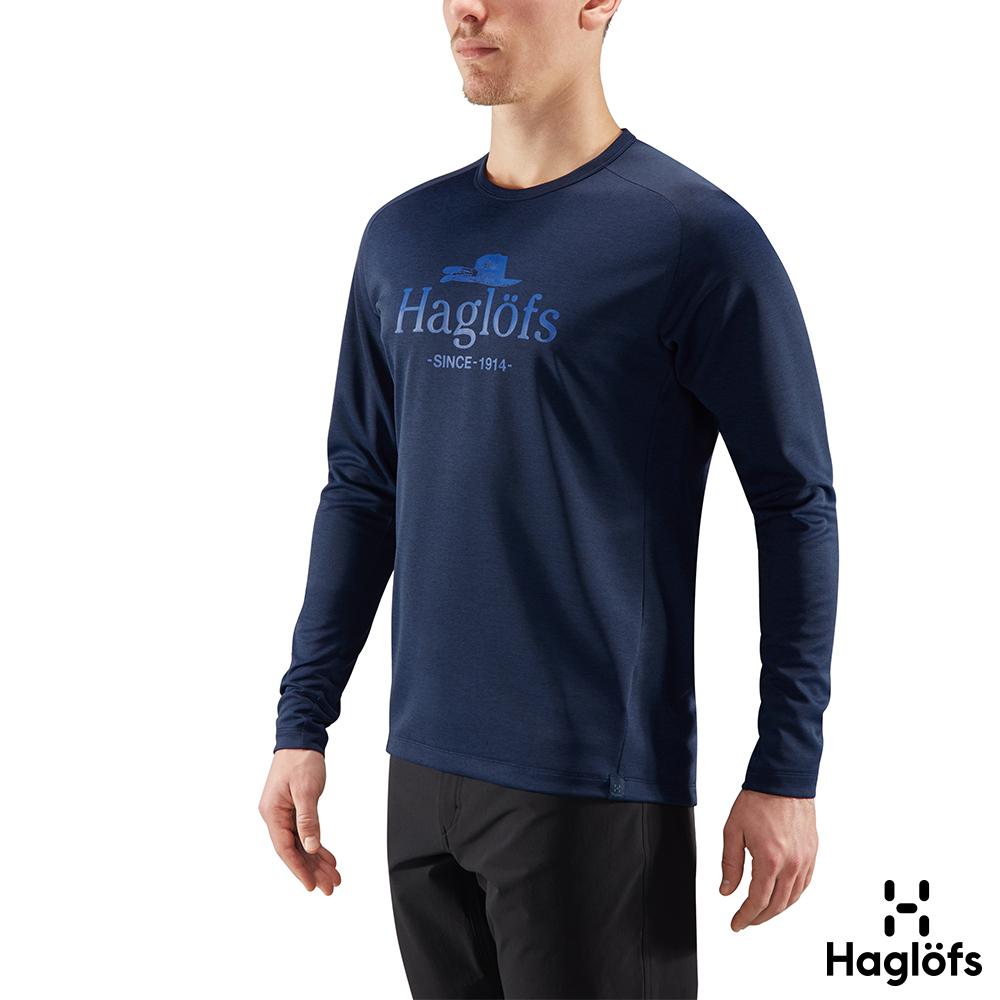 六折↘Haglofs 男 Curve 快乾 輕量 保暖長袖圓領衫 塔恩藍色