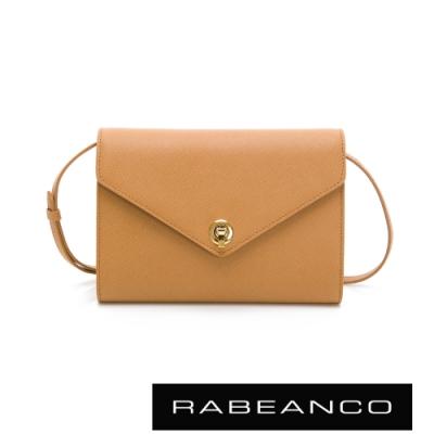 RABEANCO 台灣限定款-ENO可拆式背帶手拿/斜背皮夾包 深駝