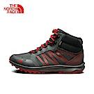 The North Face北面男款灰紅色防水高筒徒步鞋|3FX24DT