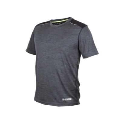 FIRESTAR 男短袖吸排圓領衫-短T T恤 慢跑 路跑 深麻灰黑