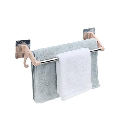 E-dot 無痕不鏽鋼廚浴雙桿毛巾收納架