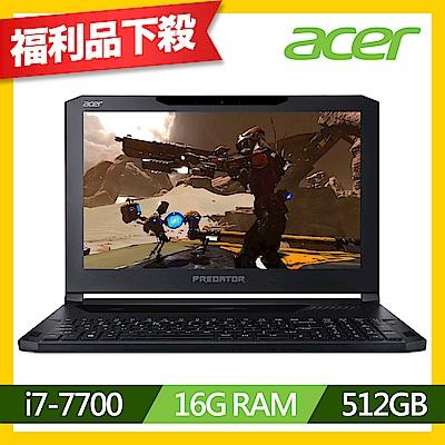(福利品)Acer PT715-51-77Z2 15吋筆電(i7-7700/GTX 1060/16G/512G SSD/黑)