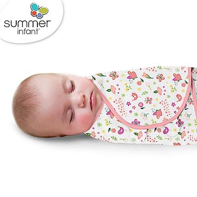 美國 Summer Infant 嬰兒包巾 懶人包巾薄款 -純棉S 花香鳥語