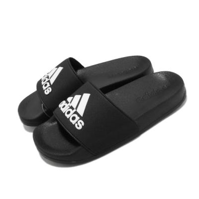 adidas 涼拖鞋 Adilette Shower K 童鞋 愛迪達 基本款 夏日 簡約 中童 黑 白 G27627
