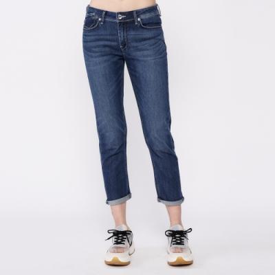 Lee 401 涼感 Cool Breeze 中腰合身小直筒牛仔褲 女款 中藍色