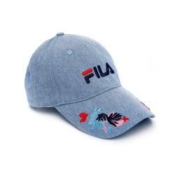 FILA 時尚LOGO帽-藍 HTU-5207-BU