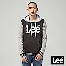 Lee 大LOGO長袖連帽TEE/RG黑+麻灰