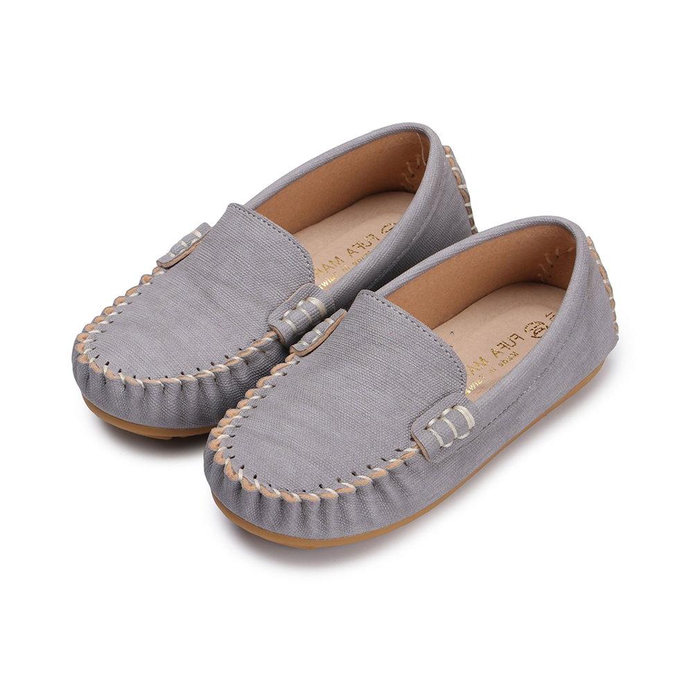 BuyGlasses 素面質感兒童樂福鞋-灰