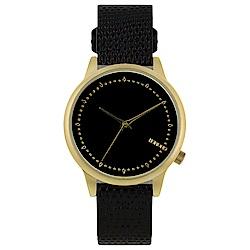 KOMONO Estelle Monte Carlo 腕錶-黑色蜥蜴/36mm