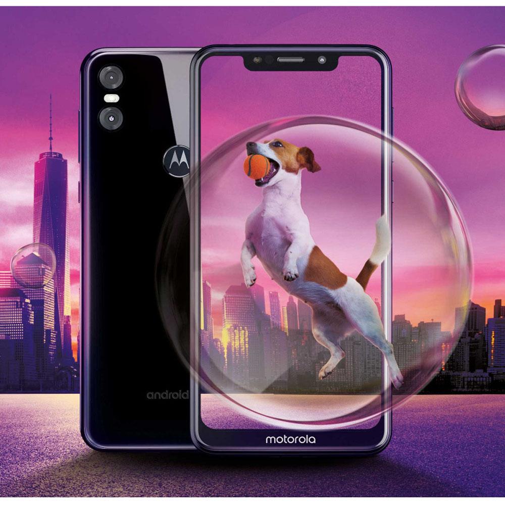 Motorola One 全螢幕智慧型手機(黑色)