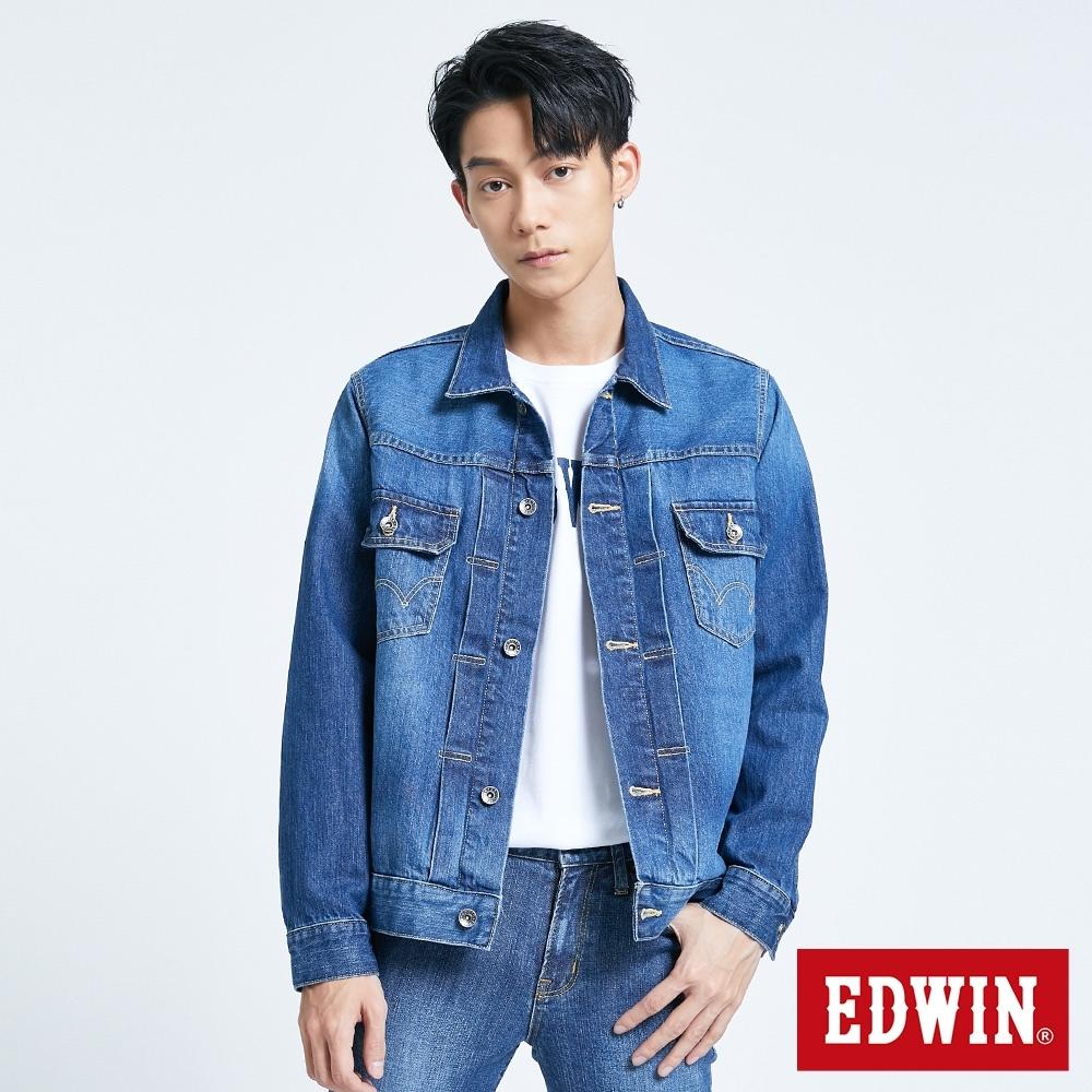 EDWIN BASIC 基本牛仔外套-男-拔洗藍