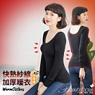 BeautyFocus 厚暖發熱刷毛保暖衣(黑)