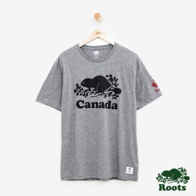 男裝Roots 加拿大系列短袖T恤-灰色