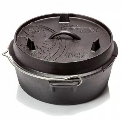 PETROMAX 鑄鐵荷蘭鍋10吋 (平底) 通過德國食品安全認證(LFGB)