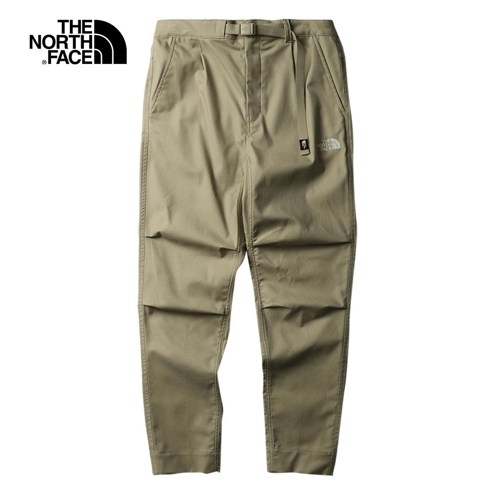 The North Face北面男款卡其色可調節腰帶休閒褲|5AX6ZDL