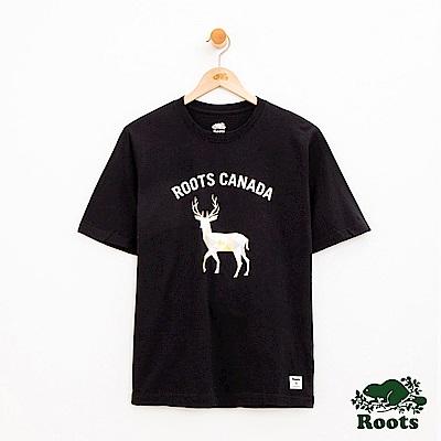 男裝Roots 動物系列短袖T恤-黑