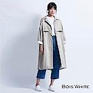 Bois-White-長版口袋後開岔寬風衣-黑/杏/綠