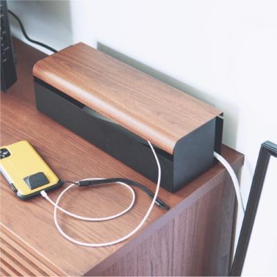 完美主義 木紋質感集線盒/插座盒/電線收納盒/電源集線盒/收線盒(2色)