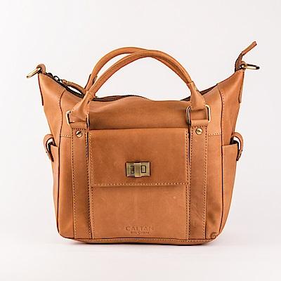 CALTAN - 女用真皮大容量 斜背 側背包 肩背包 皮包 手提包-5234ht