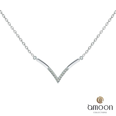 amoon 浪漫艾菲爾系列 深邃 K金鑽石項鍊