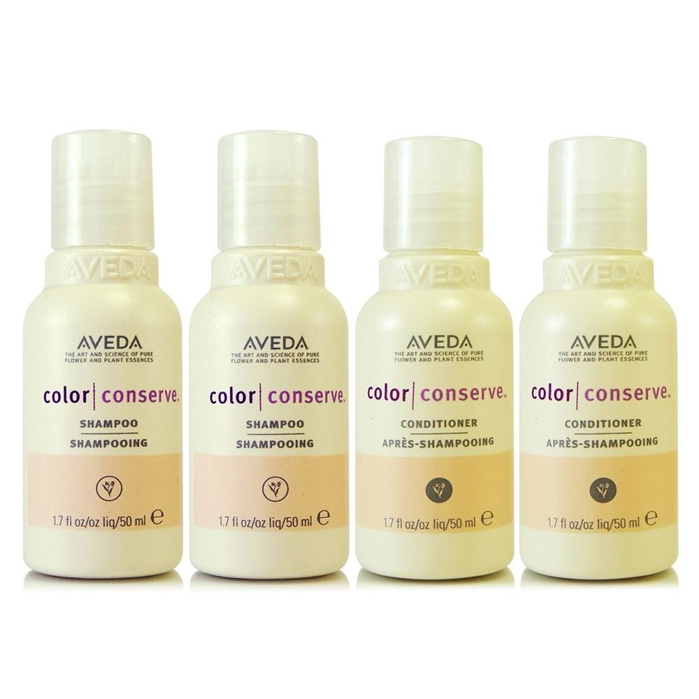 (即期良品)AVEDA 護色洗髮精50ml*2+護色潤髮乳50ml*2