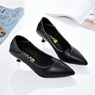KEITH-WILL時尚鞋館 (現貨) 韓時尚柔美簡約小跟鞋-黑色