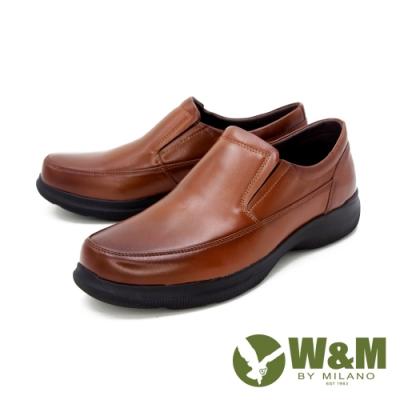 W&M(男)圓頭素面莫卡辛 樂福鞋 開車鞋 男鞋 -棕(另有黑)