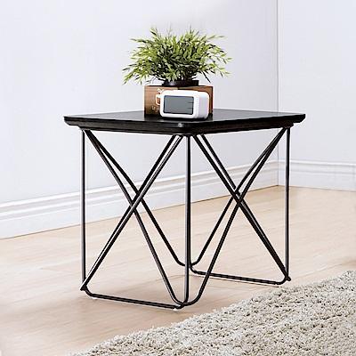 Bernice-坦里克1.6尺黑色小茶几/邊桌-47x47x50cm