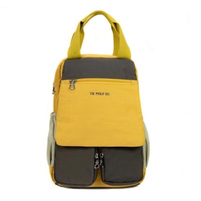 ANGIMI SHOP 後背手提多口袋兩用包 玩色邦妮-亮麗黃