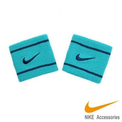 NIKE Dri-fit單色腕帶 藍綠