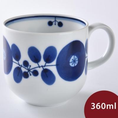 日本 Hakusan  BLOOM 茶壺 馬克杯 單花雙葉 360ml