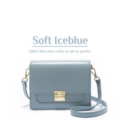ANNA DOLLY 甜美細緻Tender夾層小方包 沁涼冰藍