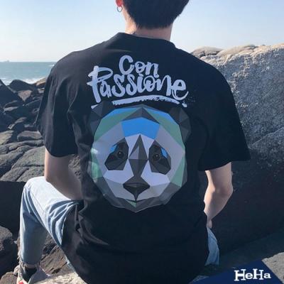 百搭嘻哈熊貓寬鬆潮流短T 二色-HeHa