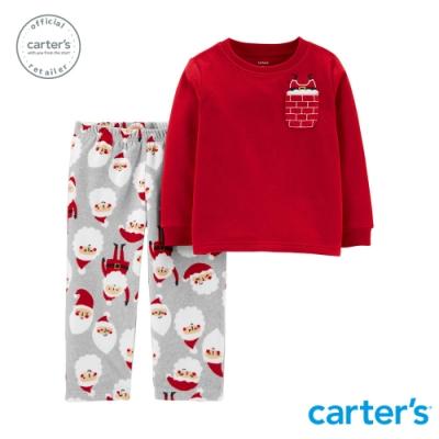 Carter s台灣總代理 滿版聖誕老公公家居服2件組套裝