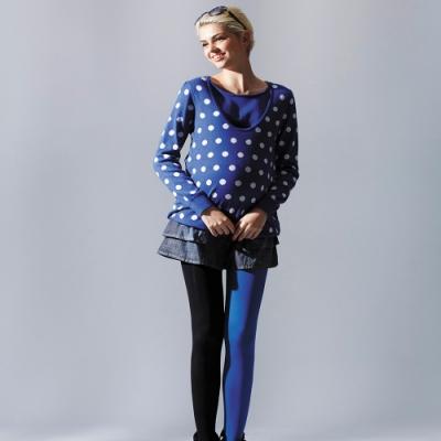【ohoh-mini 孕哺裝】可愛波卡圓點針織衫孕哺上衣