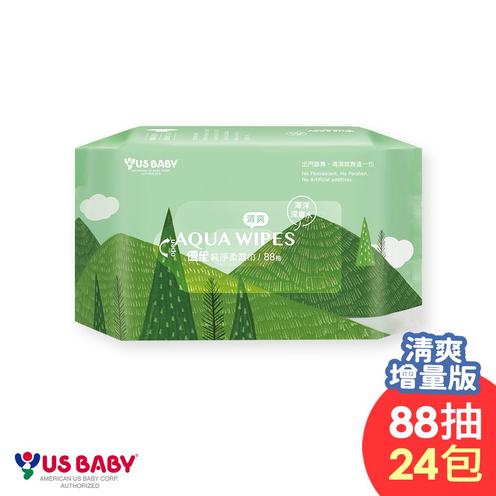 (時時樂限定) 優生 純淨柔濕巾清爽型(88抽24包)